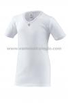 Camiseta Interior Ni�a Manga Corta - Camiseta Interior Ni�a de Manga Corta. Cuello de pico para que no se vea con blusas y polos. Bordada en cuello y mangas. Adornada con florecita en el cuello. M�ximo confort. 110%algod�n. NINA Ferrys.