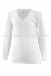 Camiseta Manga Larga Primera Calidad - Camiseta de niña de manga larga. Máximo confort. Cuello pico para que no se vea con las blusas. 50% Algodón.