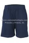 Bermuda deporte - Pantalón corto deportivo MARINO en  Felpa (50% Algodón). Primera calidad. Tallas de la 2 a la 16. Pinchar en la imágen para más detalles y ver más abajo medidas del producto.