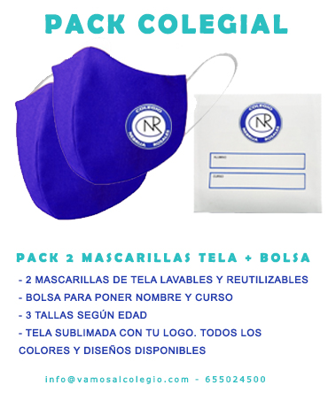 PACK COLEGIAL MASCARILLAS