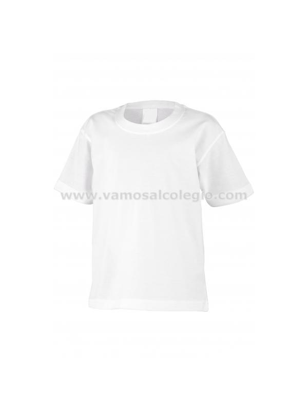 Camiseta Deporte Manga Corta - Camiseta básica blanca de deporte. Cuello con lycra. Costuras laterales. Doble costura en cuello, mangas y bajo. Refuerzo de hombro a hombro. 190gr. aprox. 100% algodón preencogido.