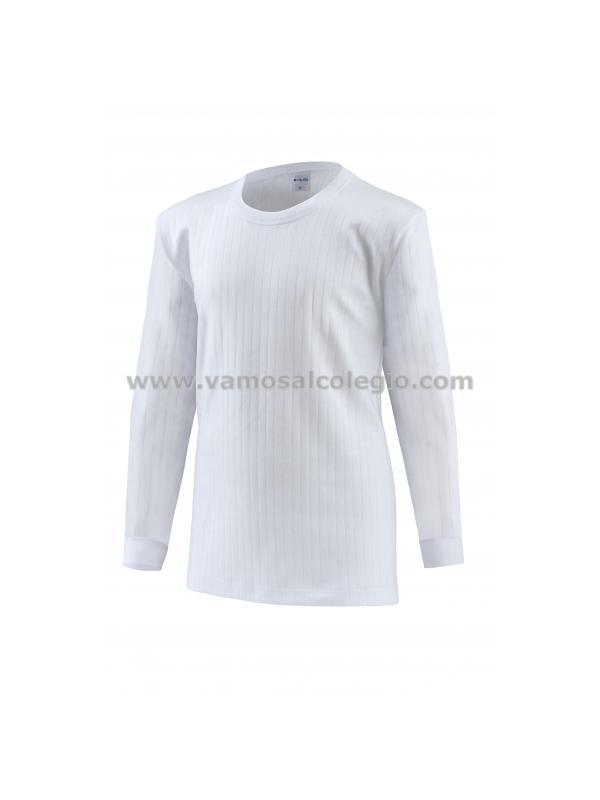 Camiseta Felpa Manga Larga - Camiseta de felpa TÉRMICA. 100% algodón de primera calidad. Fabricación Nacional. Pinchar en la foto para ampliar imagen.