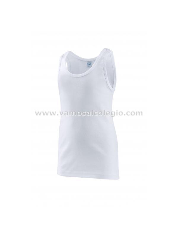 Camiseta Interior Tirantes para NIÑO - Camiseta interior tirante ancho para niño. 100% algodón de primera calidad. Fabricación nacional. Pinchar en foto para ampliar imagen y ver detalle.