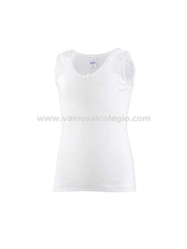 2306-Camiseta Tirante Ancho Primera Calidad - Camiseta par niña en algodón, tirante sport. Este artículo da poca talla, pedir uana talla más de la habitual.