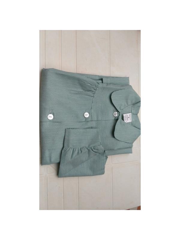 BABY RAYA VERDE ¡¡OFERTA!! - Baby RAYA en VERDE,¡¡ÚLTIMAS UNIDADES!! composición 35% algodón 65% poliéster. Primera calidad. Dos bolsillos. Tallaje amplio.