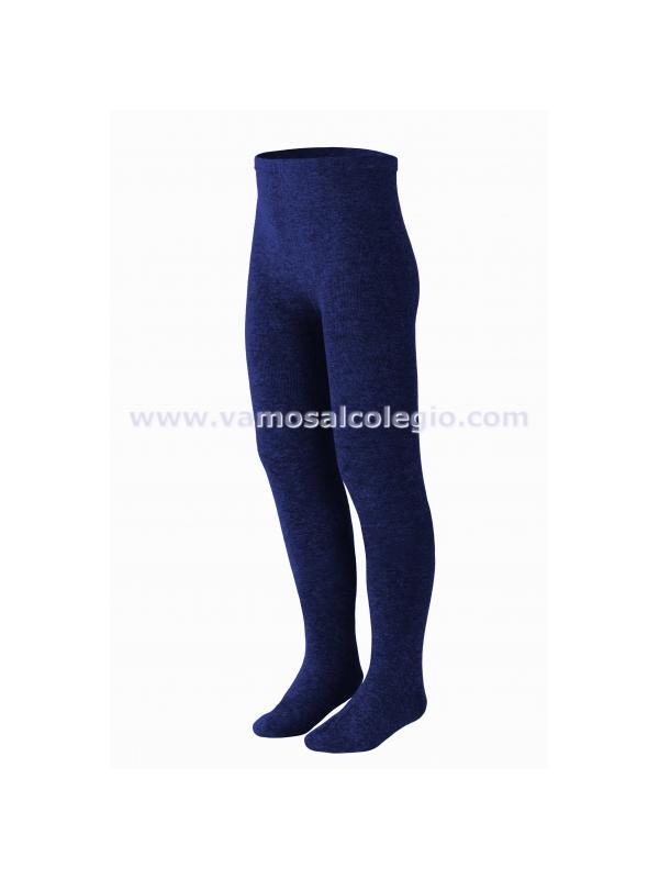 Leotardo liso/canalé - Color Azul Marino - Leotardo liso o canalé de algodón. Excelente calidad: no hace bolas. Con elástico en la cintura para que no apriete. Se recomienda lavar del revés.