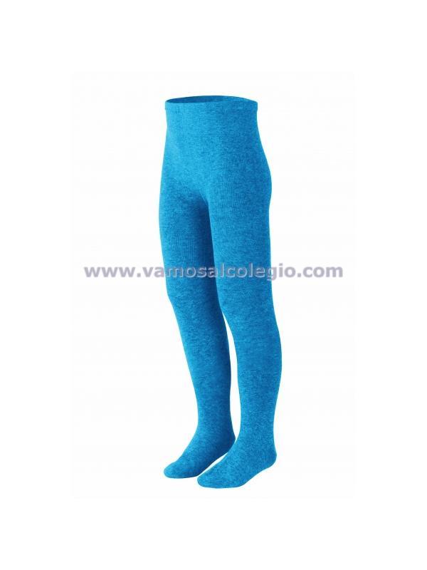 Leotardo liso - Color Azul Francia - Leotardo de algodón primera calidad. Color azul tipo colegios de monjitas / Azul Pitufo. Utilizable tanto para colegio como para calle por su bonito color. Excelente calidad: no hace bolas (se recomienda lavar del revés)