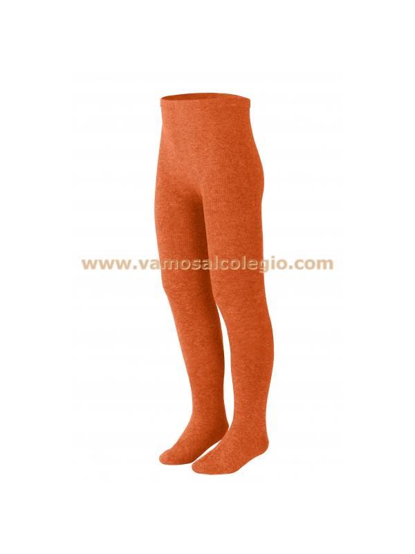 Leotardo liso -  Color en Naranja ¡¡ÚLTIMAS UNIDADES!! - ¡¡ SOLO TALLA 6!!Leotardo de algodón primera calidad. Color níspero tipo gredos. No hace bolas. Fabricación nacional. Se venden también para ropa del día a día y para funciones escolares.