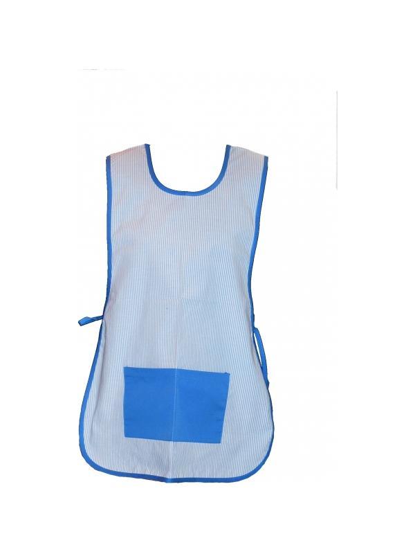 Casulla azul a rayas - Casullas para profesores. Talla única. Tejido y composición a elegir. ¡Consulte nuestros precios para colegios y guarderías!
