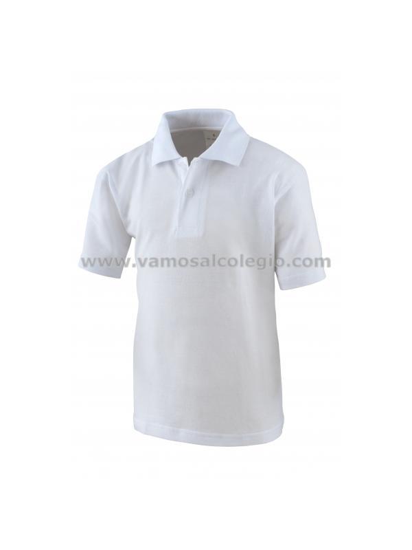 Polo Manga Corta BLANCO - Polo de manga corta blanco. Tejido en piqué, Tapeta con dos botones. Bocamanga y cuello en canalé. Aberturas laterales.100% algodón peinado preencogido.