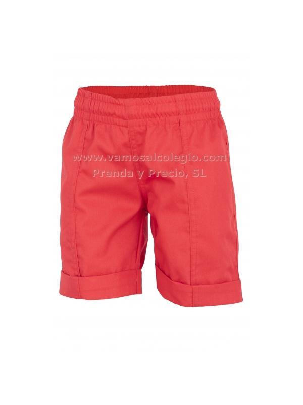 Pantalón corto deporte rojo - Pantalón de sarga, igual que el usa el Colegio El Valle