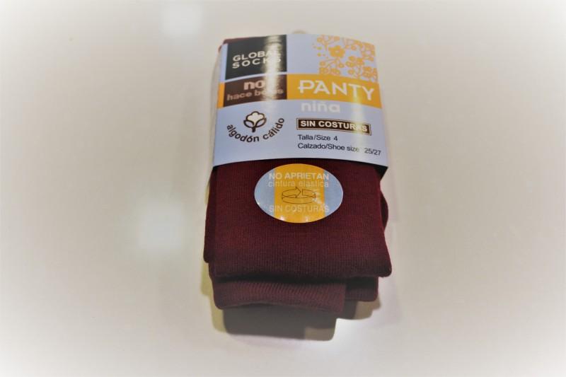 Leotardo liso - Color Marrón - Leotardo liso de algodón. Excelente calidad: no hace bolas. Con elástico en la cintura para que no apriete. Se recomienda lavar del revés. Debajo de la imagen del producto puede encontrar la medida de las tallas.