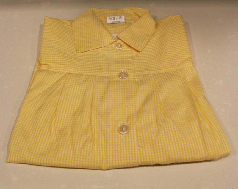 BABY cuadros amarillos ¡¡OFERTA!! - Baby CUADROS NARANJAS,¡¡ÚLTIMAS UNIDADES!! composición 50% algodón 50% poliéster. Primera calidad. Dos bolsillos.