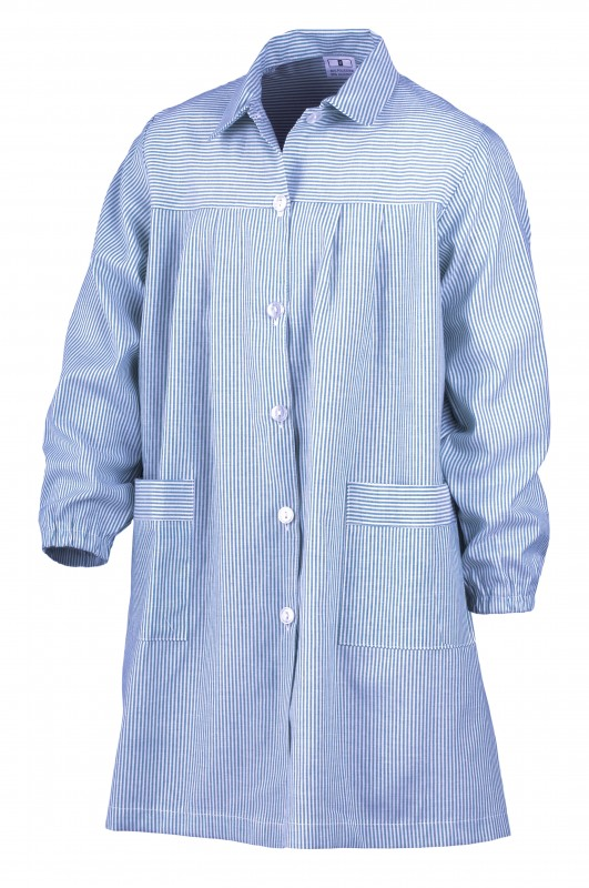 BABY RAYA CELESTE ¡¡OFERTA!! - Baby RAYA en CELESTE,¡¡ÚLTIMAS UNIDADES!! composición 35% algodón 65% poliéster. Primera calidad. Dos bolsillos.