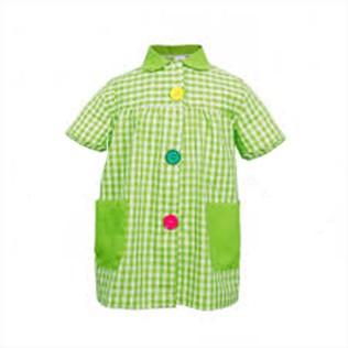 Bata cuadros verdes - Bata cuadros verdes con bolsillos y botones de colores. Se puede bordar el logo. Con manga corta, pensado para zonas muy cálidas. Tejido de primera calidad.Si deseas un presupuesto no dudes en ponerte en contacto con nosotros.