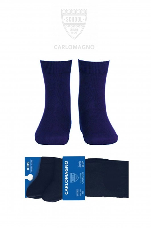 PACK DE 2 PARES. CALCETÍN COLEGIAL COLOR AZUL MARINO UNIFORME ESCOLAR NEBRIJA ROSALES  - PACK DE 2 PARES de calcetines. Color marino. Composición 80% Algodón.  No hacen bolas. Se recomienda lavar del revés.