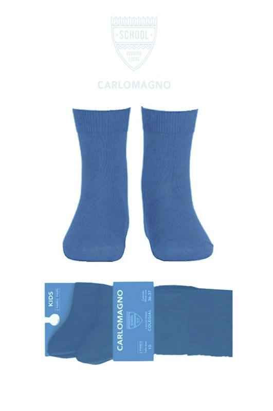 Calcetín colegial, Color Azul Francia, PACK DE 2 PARES. - PACK DE 2 PARES de calcetines. Composición 80% Algodón.  No hacen bolas. Se recomienda lavar del revés.  ¡¡ CADA PAR TE SALE A 1 €!!