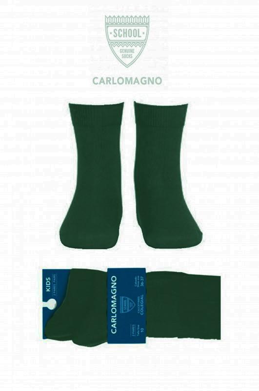 Calcetín colegial, Color verde botella, PACK DE 2 PARES - PACK DE 2 PARES de calcetines. Color verde botella. Composición 80% Algodón. No hacen bolas. Se recomienda lavar del revés.