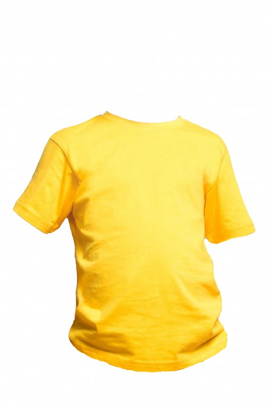 CAMISETA DEPORTE Padre Garralda, Villanueva de la Cañada - Camiseta amarilla gold en algodón. Modelo oficial del CEIPSO Padre Garralda, Villanueva de la Cañada.
