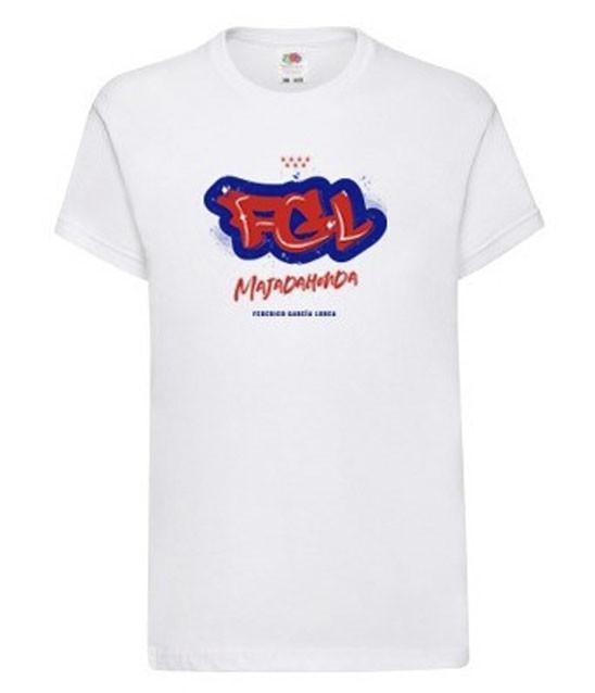 Camiseta blanca chico manga corta - Camiseta blanca de chica con graffiti del AMPA. 100% algodón. STOCK limitado. Por favor si desea unidades agotadas avísenos por email y haremos una estimación en base al número de peticiones.