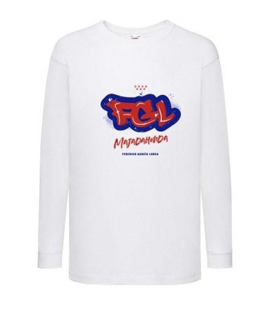 Camiseta blanca manga larga - Camiseta blanca unisex manga larga con graffiti del AMPA. 100% algodón. STOCK limitado. Por favor si desea unidades agotadas avísenos por email y haremos una estimación en base al número de peticiones.