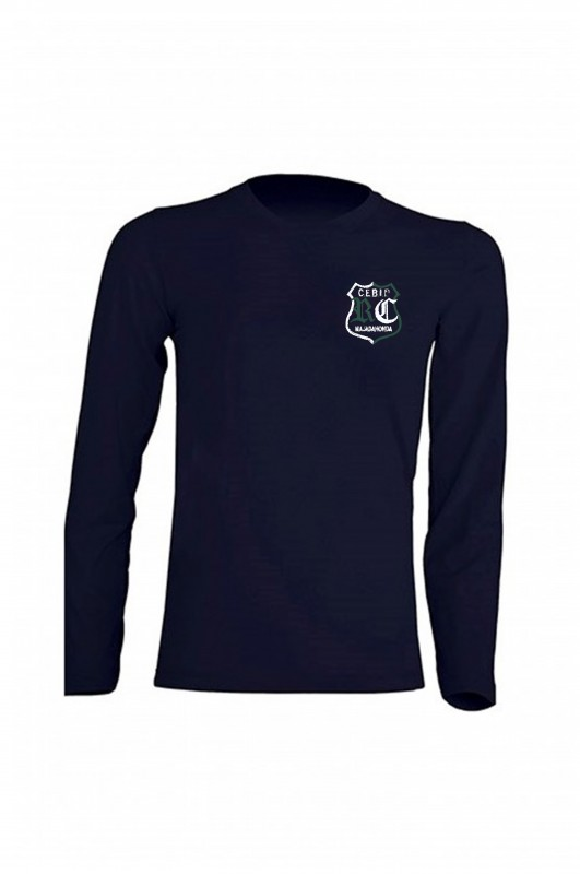 CAMISETA MANGA LARGA UNIFORME ROSALÍA DE CASTRO - Camiseta azul marino en 100% algodón. Escudo del colegio. Modelo oficial del colegio.