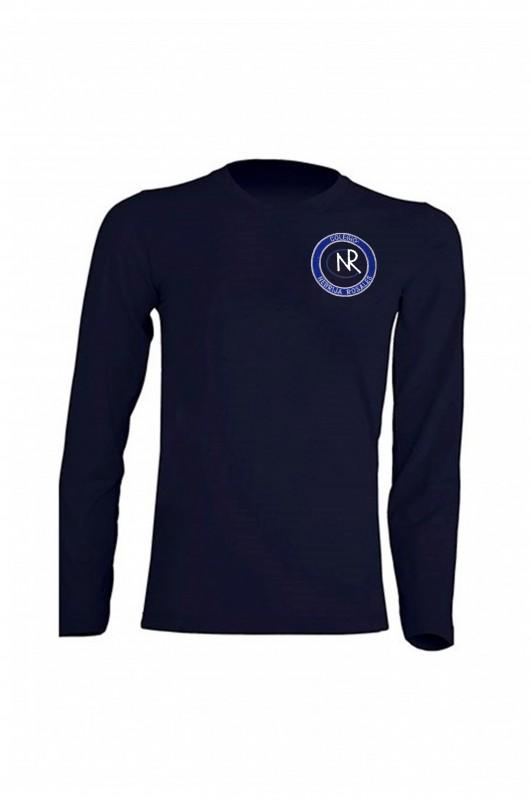 CAMISETA MANGA LARGA UNIFORME ESCOLAR COLEGIO NEBRIJA ROSALES - Camiseta azul marino en 100% algodón. Escudo del colegio. Modelo oficial del colegio. Vea las medidas más abajo