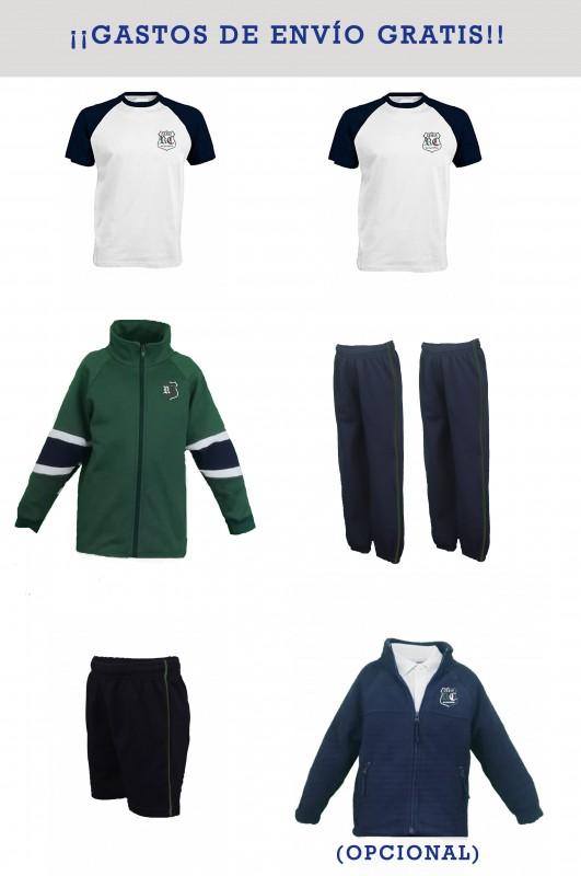LOTE DEPORTIVO RdC - Contenido: Chaqueta + 2 pantalones + bermuda + 2 camisetas. Elige tus tallas. Puedes añadir como opcional polar y/o pack de calcetines deportivos.