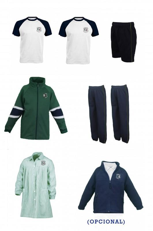 LOTE INFANTIL RdC - Contiene: Baby + Chaqueta + 2 pantalones + bermuda + 2 camisetas. Elige tus tallas. Puedes añadir como opcional polar y/o pack de calcetines deportivos.