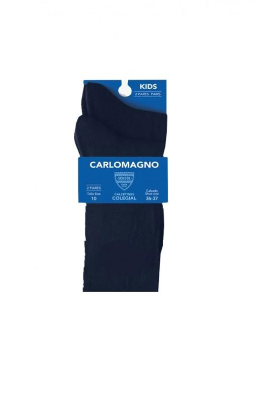 33-Calcetín colegial, Color Marino, PACK DE 2 PARES. - PACK DE 2 PARES de calcetines. Color marino. Composición 80% Algodón.  No hacen bolas. Se recomienda lavar del revés.