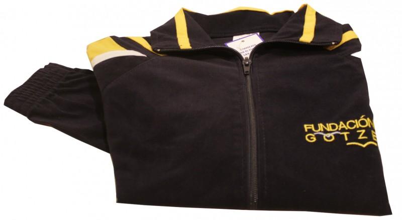 1-CHAQUETA CHANDAL - Chaqueta de chándal, bordada, uniforme oficial del colegio.