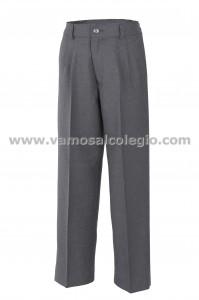 PANTALÓN DE VESTIR CON BOTÓN  - Pantalón de vestir largo, cinturilla con botón, modelo  oficial del colegio.