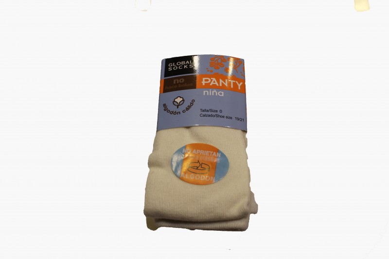 Leotardo liso - Color Marfil - Leotardo liso de algodón. Excelente calidad: no hace bolas. Con elástico en la cintura para que no apriete. Se recomienda lavar del revés. Debajo de la imagen del producto puede encontrar la medida de las tallas.