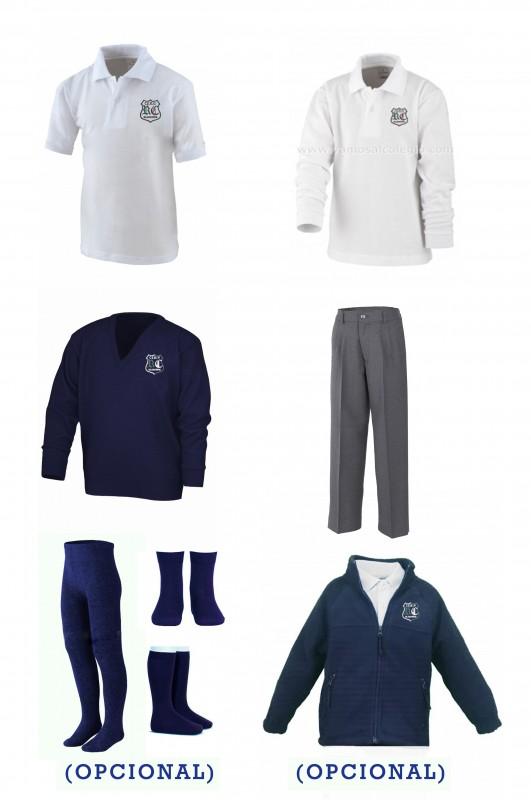 LOTE  VESTIR CON PANTALÓN CON BOTÓN  RdC - Contenido: Pantalón  + jersey + polo m/c + polo m/l. Elige tus tallas. Puedes añadir como opcional  pack de calcetines y/o polar.