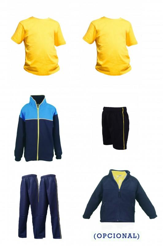 LOTE DEPORTIVO PRIMARIA COLEGIO PADRE GARRALDA - Contenido: Chaqueta + 2 pantalones + Bermuda + 2 camisetas m/corta. Elige tus tallas. Puedes elegir como opcional polar y/o pack de calcetines deportivos.