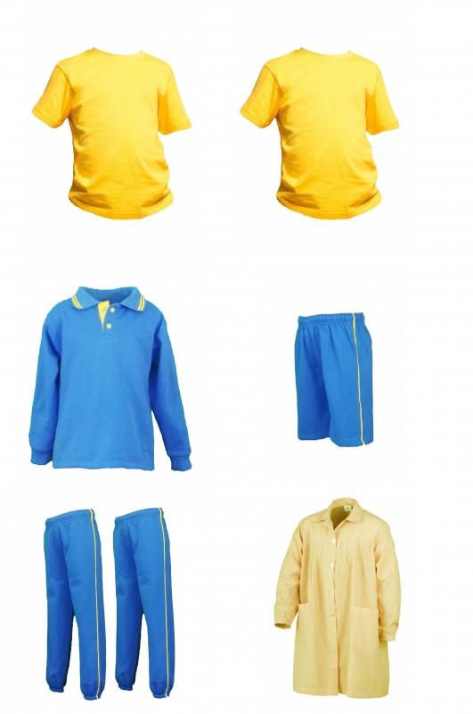 LOTE DEPORTIVO INFANTIL CEIPSO PADRE GARRALDA - Contenido: Baby+ sudadera + 2 pantalones + Bermuda + 2 camisetas m/corta. Elige tus tallas. Puedes elegir como opcional polar y/o pack de calcetines deportivos.