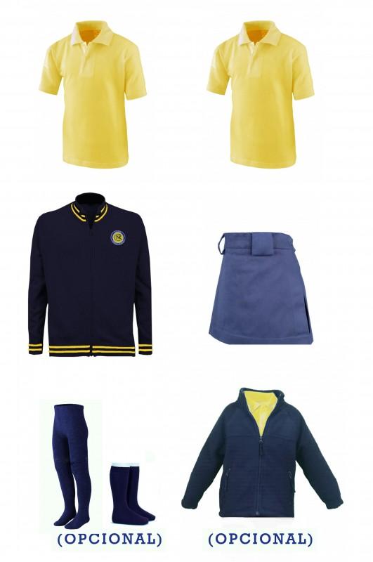 LOTE FALDA/PANTALÓN CEIPSO PADRE GARRALDA - Contenido: Falda-pantalón + Chaqueta de punto + 2 polos m/corta. Elige tus tallas. Puedes elegir como opcional pack de leotardos + pack de media sport y/o polar.