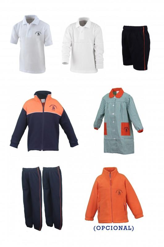 LOTE  INFANTIL  A.A. - Contenido: Baby + chaqueta + 2 pantalones + bermuda + polo m/c + polo m/l. Elige tus tallas. Puedes añadir como opcional  pack de calcetines deportivos y/o polar.