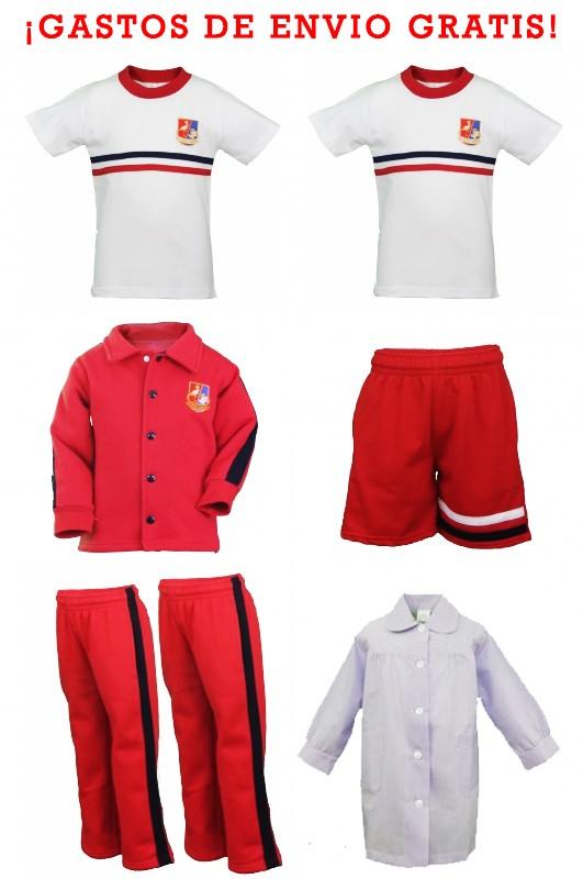 LOTE DEPORTIVO INFANTIL El Cantizal, Las Rozas de Madrid - Contenido: Chaqueta + 2 pantalones + bermuda+ 2 camisetas. Elige tus tallas. Puedes añadir como opcional el baby.
