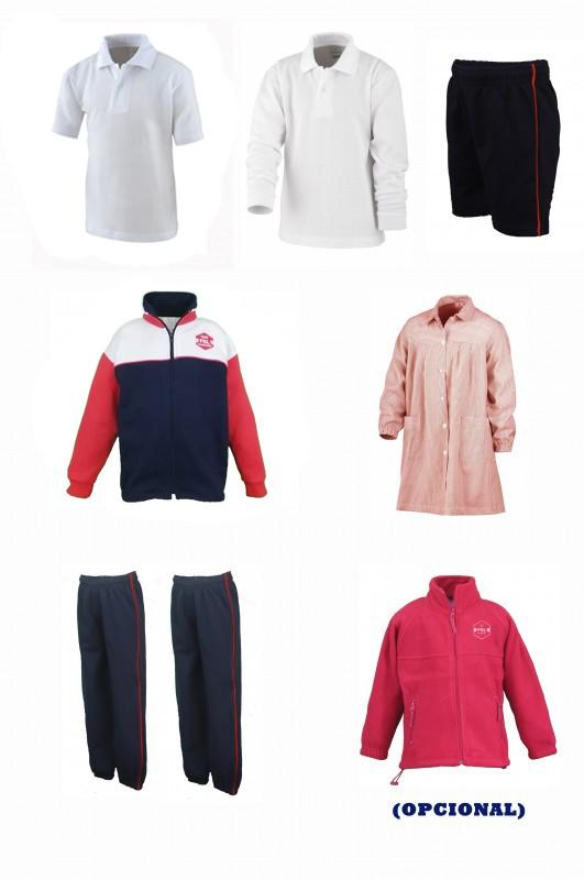 LOTE  INFANTIL  FGL - Contenido: Baby + chaqueta + 2 pantalones + bermuda + polo m/c + polo m/l. Elige tus tallas. Puedes añadir como opcional  pack de calcetines deportivos y/o polar.