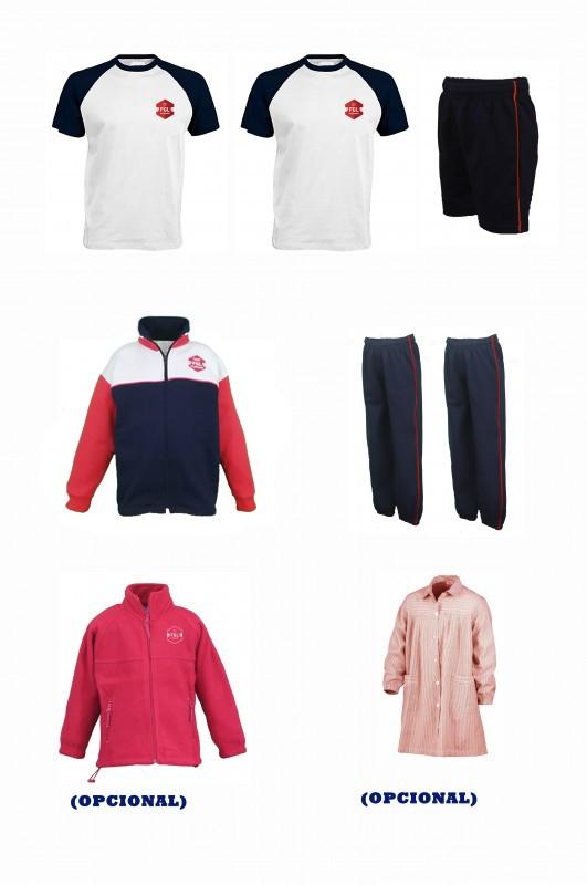 LOTE  DEPORTIVO CON CAMISETAS FGL - Contiene: Chaqueta + 2 pantalones + bermuda + 2 camisetas . Elige tus tallas. Puedes añadir como opcional polar, baby y/o pack de calcetines deportivos.