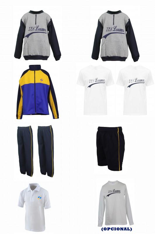 LOTE  DEPORTIVO CON PANTALONES LOR - Contiene: Sudadera (2)+Chaqueta + pantalones (