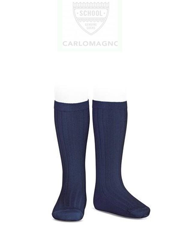 Calcetín colegial CANALÉ, PACK 2 UNIDADES - Pack de 2 calcetines colegiales liso  en algodón. VERDE BOTELLA, ROJO.