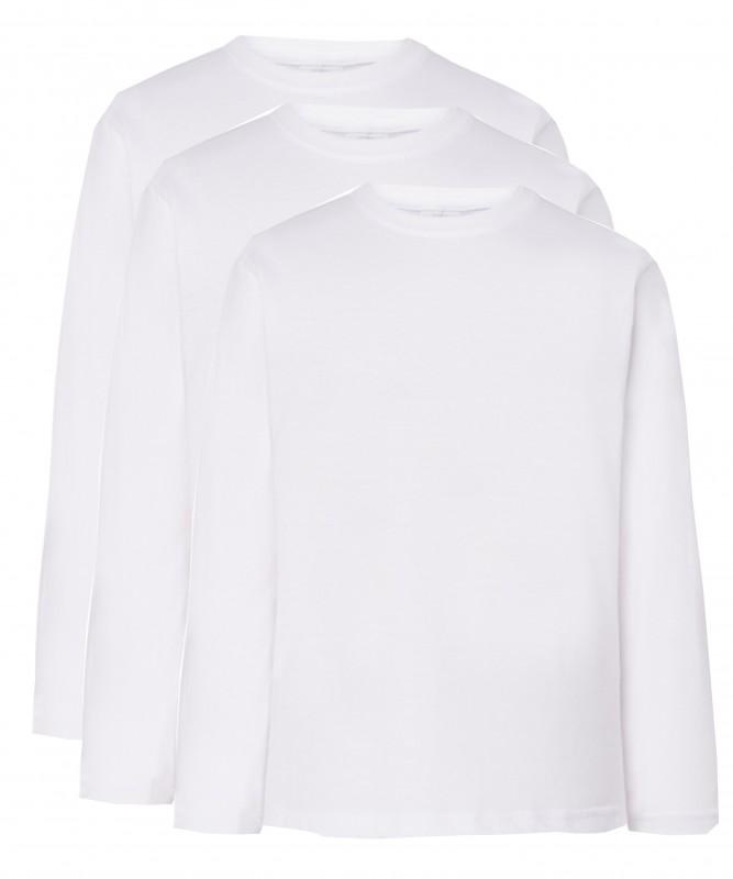 PACK 3 camisetas manga larga colegio Antón Sevillano - Pack 3 camisetas blancas lisas de manga larga. Algodón primera calidad