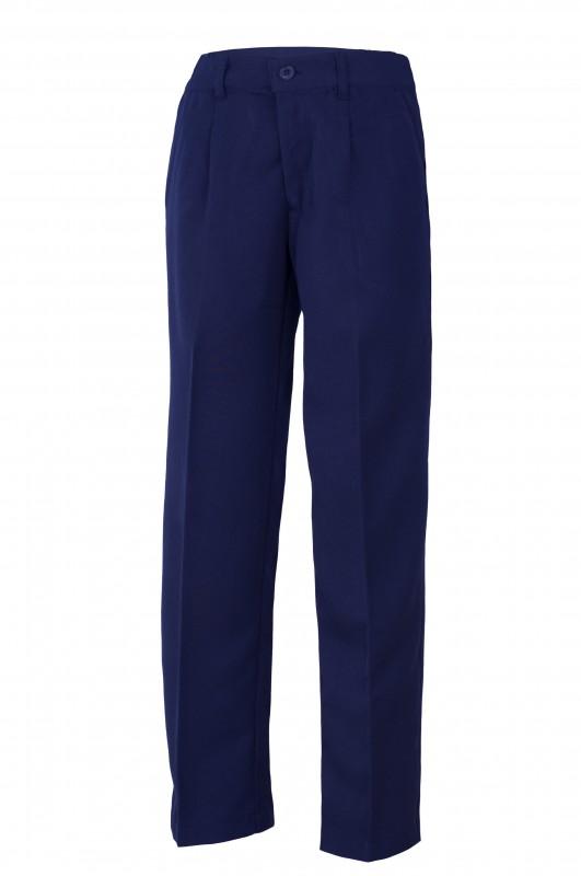 PANTALÓN CON BOTÓN UNIFORME ESCOLAR ANTÓN SEVILLANO - Pantalón de vestir largo, cinturilla con botón, modelo  oficial del colegio.