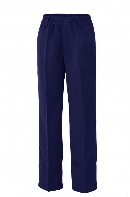 PANTALÓN LARGO TODO GOMAS UNIFORME COLEGIO ANTÓN SEVILLANO - Pantalón de vestir largo, la cinturilla todo gomas sin botones, modelo  oficial del colegio.