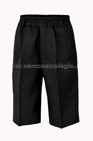 PANTALÓN DE VESTIR CORTO TODO GOMAS - Pantalón de vestir corto, la cinturilla todo gomas sin botones, modelo oficial del colegio.