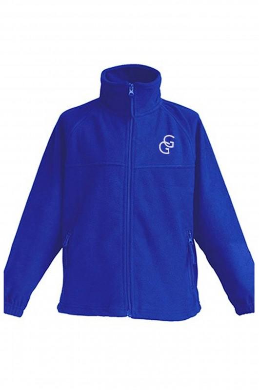 POLAR AZULÓN Gabriel y Galán - Forro polar con el escudo del colegio bordado. Concebido como abrigo o sustituto de la chaqueta. Da bastante talla. Consulte más abajo los detalles y medidas.