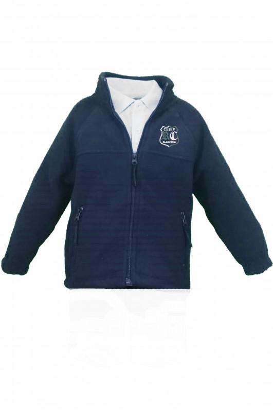 POLAR RdC - Forro polar con el escudo del colegio bordado. Concebido como abrigo o sustituto de la chaqueta. Da bastante talla. Consulte más abajo los detalles y medidas.