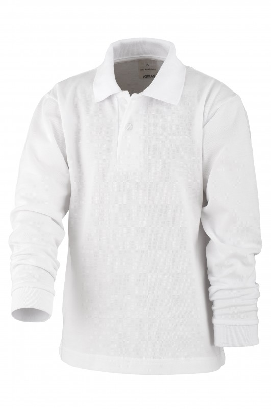 POLO MANGA LARGA FGL - Polo manga larga básico blanco